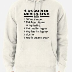 Six Stages of Debugging: Black Text Design for Programmers