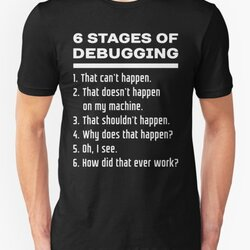 Six Stages of Debugging: White on Dark Design for Programmers
