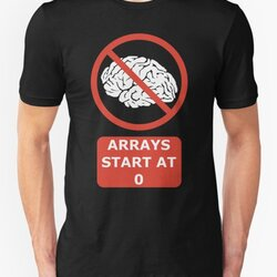 Arrays Start At 0 Funny Programmer Design Red/White