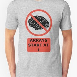 Arrays Start At 1 Funny Programmer Design Red/Black