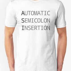 ASI Automatic Semicolon Insertion - Dark Text Webdev Design