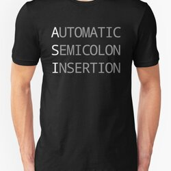 ASI Automatic Semicolon Insertion - Light Text Webdev Design