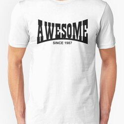 Awesome since 1987 - 30th Birthday/Anniversary Black Text Design