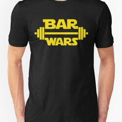 BAR WARS - Yellow/Dark Parody Design for Weight Lifters