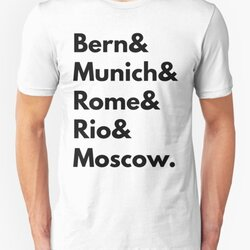 Bern Munich Rome Rio Moscow - Germany Football Fan T-Shirt