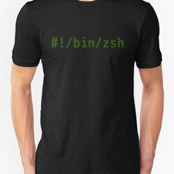 Hashbang /bin/zsh - Command Line Hacker Design - Green Text