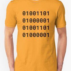 Binary MAMA - Black Text Design for Geek/Nerd Mothers