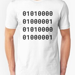Binary PAPA - Black Text Design for Geek/Nerd Fathers
