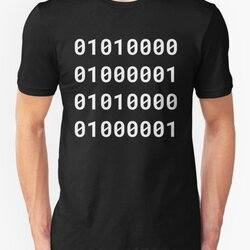 Binary PAPA - White Text Design for Geek/Nerd Fathers