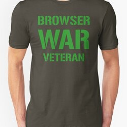 BROWSER WAR VETERAN - Green on Army Design for Web Developers