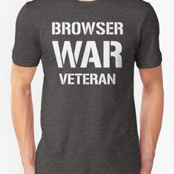 BROWSER WAR VETERAN - White Text Design for Web Developers