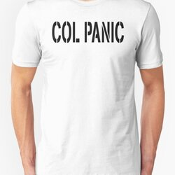 COL PANIC - Punny Black on White Design for Unix/Linux Geeks