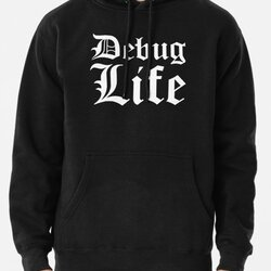 Debug Life - Parody Design for Thug Programmers - White on Black/Dark