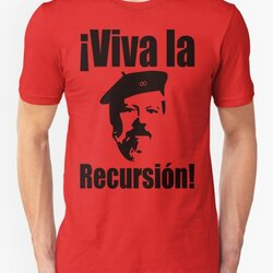 Dennis Ritchie: ¡Viva la Recursión! - Black on Red Design for Programmers