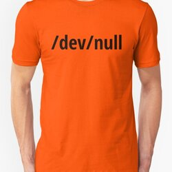 /dev/null - Funny Computer Geek Design - Black Text