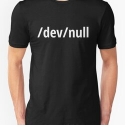 /dev/null - Funny Computer Geek Design - White Text