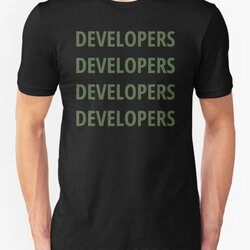 Funny Design for Software Developers - 4 Words Green Text
