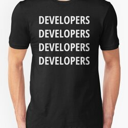 Funny Design for Software Developers - 4 Words White Text