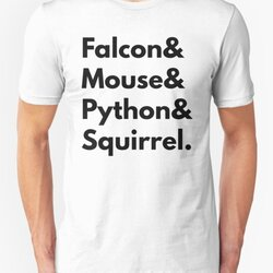 Falcon Mouse Python Squirrel Programming Language Geek Design