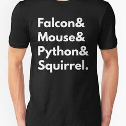 Falcon Mouse Python Squirrel Programming Language Nerd Design