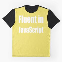 Fluent in JavaScript - White on Yellow/Gold for Web Developers