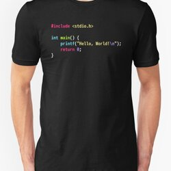 Hello World C Code - Dark Scheme Syntax Highlighting