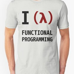 I Love Functional Programming - Black/Maroon Design