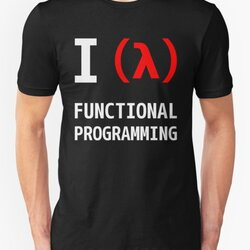 I Love Functional Programming - White & Red Design
