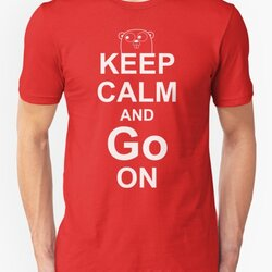 KEEP CALM AND Go ON - White on Red Design for Go Programmers