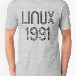 Linux 1991 - Initial Release Year Black Text Distressed Design