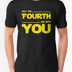 May The Fourth Be With You - Yellow/Dark Parody Design for Geeks