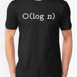 O(log n) - Big O Notation White Text Computer Scientist Design