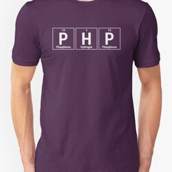PHP Programmer - White Periodic Table Elements Design