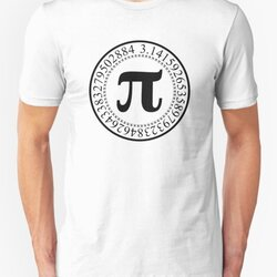 Pi Circular Digits - Black Text Design for Math and Science Geeks/Nerds