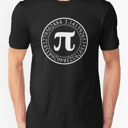 Pi Circular Digits - White Text Design for Math and Science Geeks/Nerds
