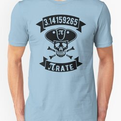 Math Pirate - Black Design with Skull, Hat & Bones