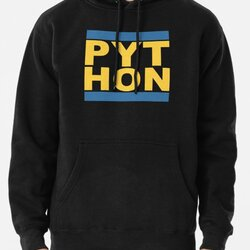 PYT HON - Cool Blue & Yellow Python Programmer Design