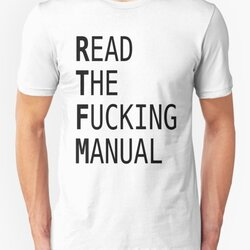 READ THE FUCKING MANUAL - Black Text Design for Computer Geeks