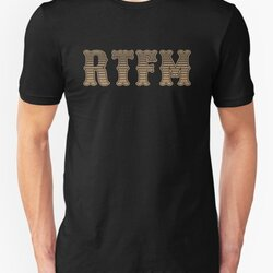 RTFM - Read The Fine Manual Brown Western Style Design