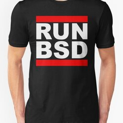 RUN BSD - Parody Design for Unix Hackers / Sysadmins