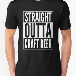 Straight Outta Craft Beer - White Text Beer Drinker Design