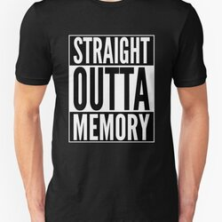 Straight Outta Memory - IT Humor Design for Dark Backgrounds