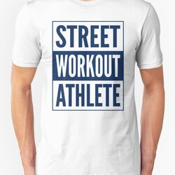 Street Workout Athlete - Blue Design for Calisthenics People