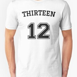 Thirteen 12 - Numeric Rebel Black Text Design