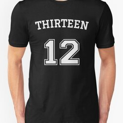 Thirteen 12 - Numeric Rebel White Text Design