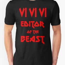 VI VI VI Editor of the Beast - Funny Metal Design for Programmer Red Font