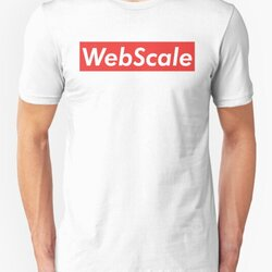 WebScale Cool & Funny Red Orange Software Engineer Design