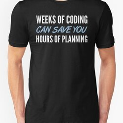 Weeks Of Coding Can Save You Hours Of Planning - Blue/White Design