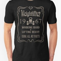 Weightlifter 1967 Vintage Birthday Gift Distressed Design