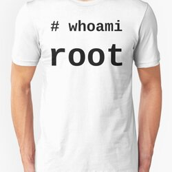 whoami root - Black on White for System Administrators